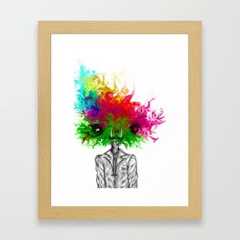 """Saturated Sally"" Framed Art Print"