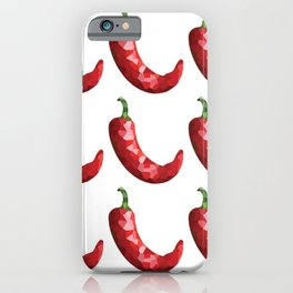 chilli 3x3 pattern, fill, repeating, tiled | elegant iPhone Case