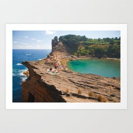 Islet in Azores islands Art Print