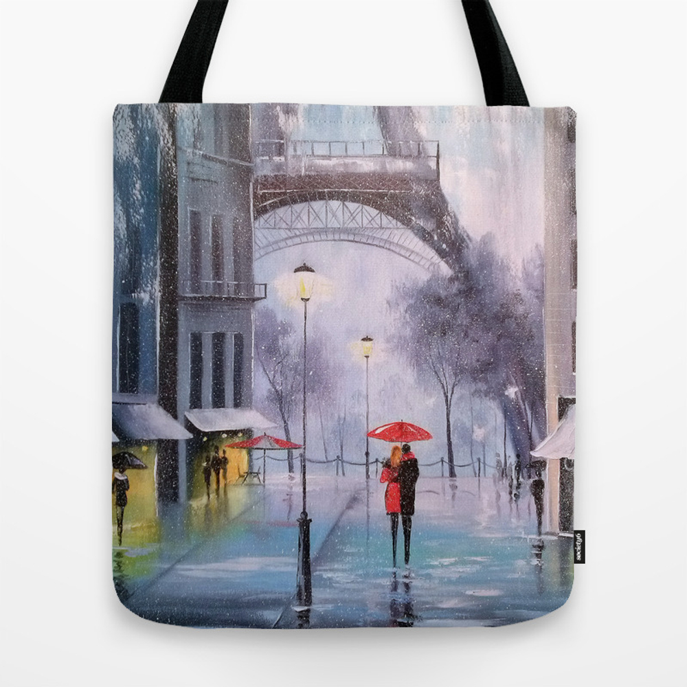 The First Snow In Paris Tote Purse by Olhadarchuk (TBG3402711) photo