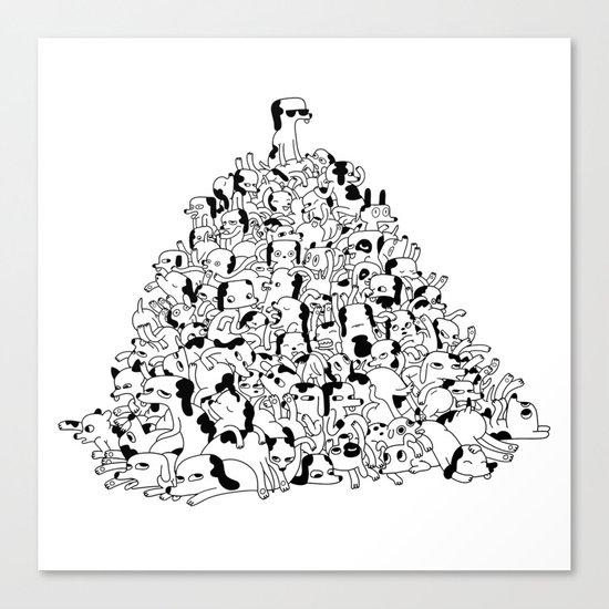 Pupper Pile Canvas Print