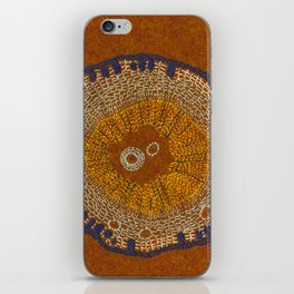 Growing - ginkgo - embroidery based on plant cell under the microscope iPhone Skin