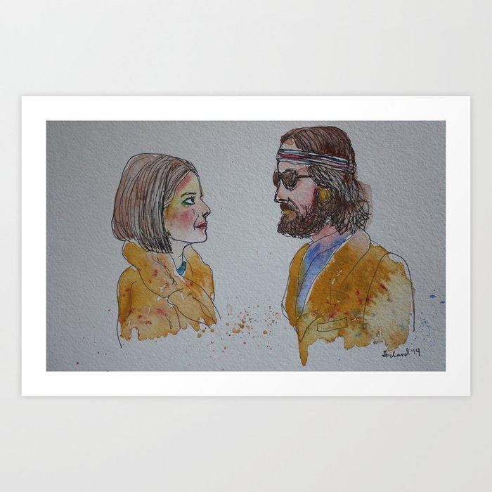 Margot and Richie Tenenbaum Art Print