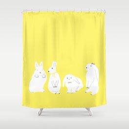 cute bunnies Shower Curtain