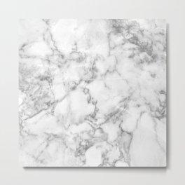 White Marble 003 Metal Print