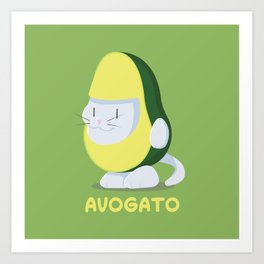 Delicious Avogato - Perfect For Cat & Avocado Lovers Art Print