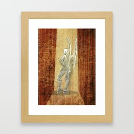 Rollerghoul Don't Give A Shizz... Framed Art Print