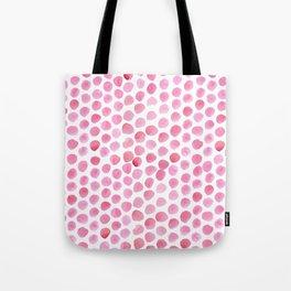 Pink Polka Dot Watercolour Tote Bag