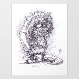 The Legend of Zelda Majora's Mask - Deku Link Art Print