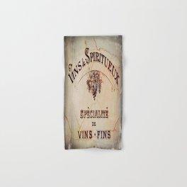 Vins & Spiritueux Hand & Bath Towel