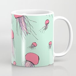 Pastel colors jellyfish Coffee Mug