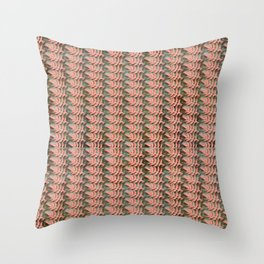 Leafy Teal Backdrop Throw Pillow