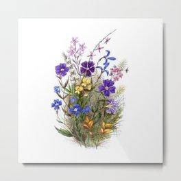 Vintage Wildflowers Metal Print