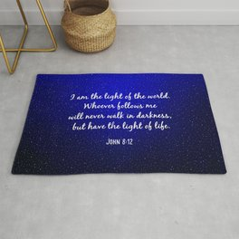 Light of the World - Bible Verse Galaxy Version Rug