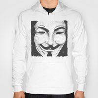 anonymous Hoodies featuring Anonymous by nicole carmagnini
