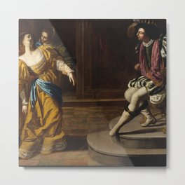Esther before Ahasuerus, Artemisia Gentileschi  Metal Print