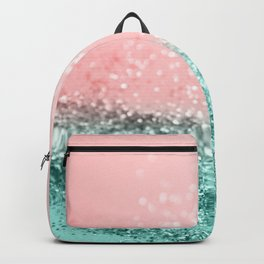 Summer Vibes Glitter #4 #coral #mint #shiny #decor #art #society6 Backpack