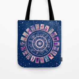 Major Arcana & Wheel of the Zodiac | Pastel Goth Tote Bag