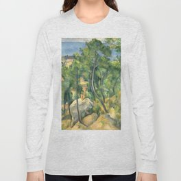 """Paul Cezanne """"View of the sea at L'Estaque"""" Long Sleeve T-shirt"""