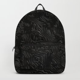 Black Silk Moire Pattern Backpack