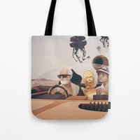 college Tote Bags featuring Fear and Loathing on Tatooine by Anton Marrast
