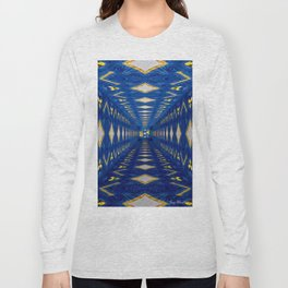 3D Concentric blue Long Sleeve T-shirt