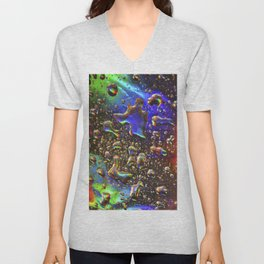 hologram rain Unisex V-Neck
