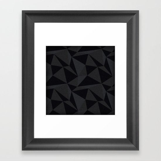 Triangular Black Framed Art Print