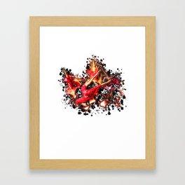 Dancing Flames. Framed Art Print