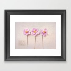anemone trio Framed Art Print