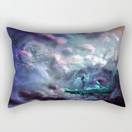Water Temple in the Sky Rectangular Pillow