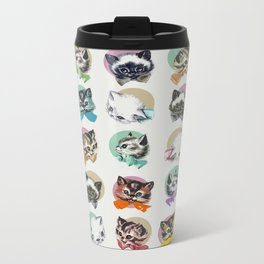 Cats & Bowties Metal Travel Mug