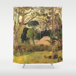 A big tree, Te raau rahi - Paul Gauguin (1891) Shower Curtain
