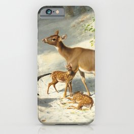 Maternal Solicitude by Arthur Fitzwilliam Tait, 1873 iPhone Case