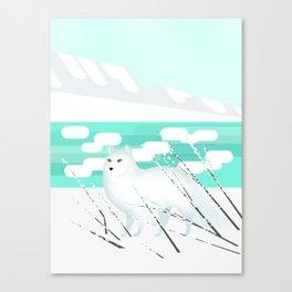 Arctic Fox - Cold but beautiful Canvas Print