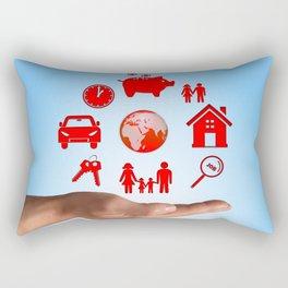 Life values Rectangular Pillow