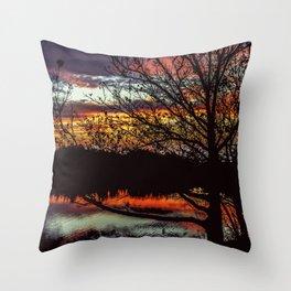 Halibut Point Sunset Throw Pillow