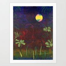 Moon Garden Art Print