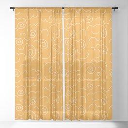 Ochre Swirls Sheer Curtain