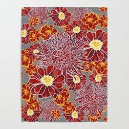Floral Pattern I Poster