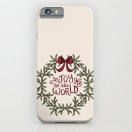 Joy to the World wreath iPhone Case