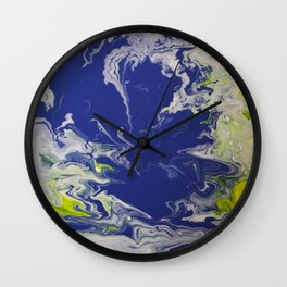 Marble Earth Pour Wall Clock