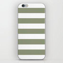 Artichoke - solid color - white stripes pattern iPhone Skin