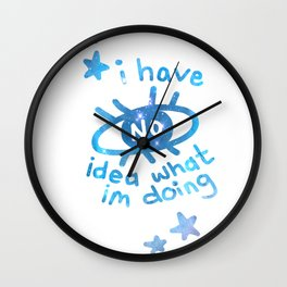 I Have No Idea Wall Clock