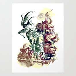 BAD MOON - FALL Art Print
