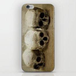Three skulls iPhone Skin