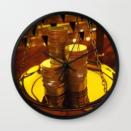 Gold investment Wall Clock