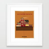 wes anderson Framed Art Prints featuring Moonrise Kingdom Directed by Wes Anderson by federico babina