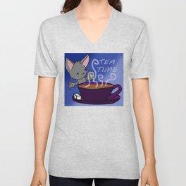 Batty for Tea Unisex V-Neck