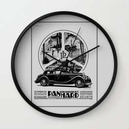 Panhard 1936 classic French art deco auto Wall Clock